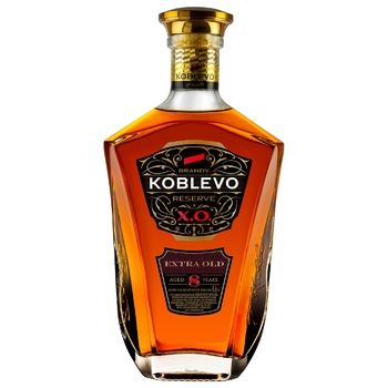 Бренди Koblevo Extra Old Reserve X.O. виноградный марочный 8 лет 40% 0,5л
