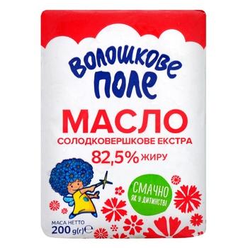 Масло Волошкове Поле Экстра сладкосливочное 82,5% 200г - купить, цены на Ашан - фото 1