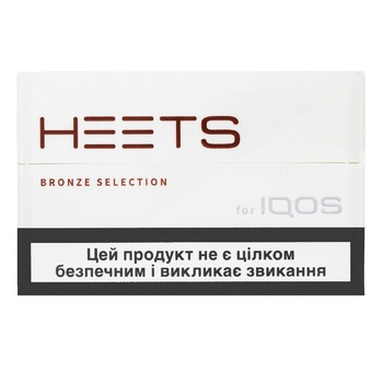 Стики табачные Heets Bronze Label 0,008г*20шт - купить, цены на ЕКО Маркет - фото 1