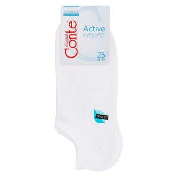 Conte Elegant Active Viscose White Women's Socks 25s