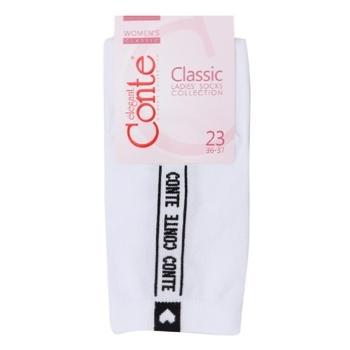 Носки Conte Elegant Classic женские хлопчатобумажные белые 23р