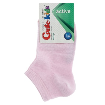 Носки детские Conte Kids Active короткие светло-розовый размер 14 - купить, цены на СитиМаркет - фото 1