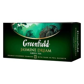 Чай зеленый Greenfield Jasmin Dream 25шт 2г - купить, цены на Ашан - фото 1
