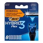 BIC Flex 3 Hybrid Shaving Cartridges 8pcs
