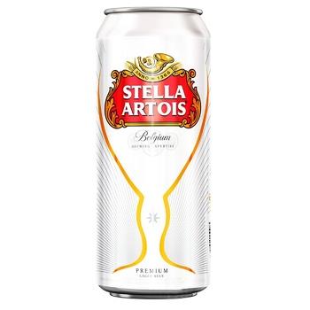 Пиво Stella Artois світле з/б 5% 0,5л - купити, ціни на Ашан - фото 1