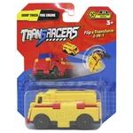 Игрушка TransRacers Машинка 2 в 1 Самосвал + Пожарная машина