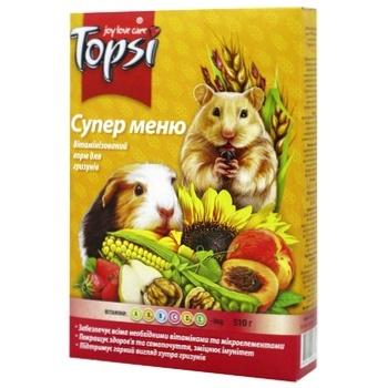 Корм Topsi для гризунів Супер меню 575г - купити, ціни на Ашан - фото 1
