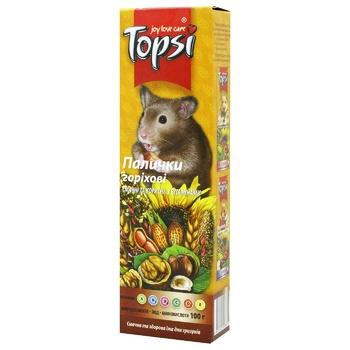 Палочки Topsi ореховые для грызунов 100г