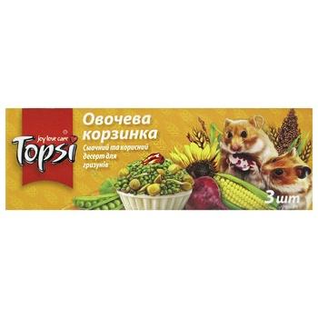 Десерт для грызунов Topsi Овощная корзинка 45г