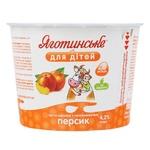 Паста творожная Яготинское для детей персик 4,2% 100г