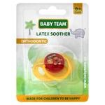 Пустушка Baby Team латексна ортодонтична 3200
