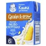 Каша Gerber молочная жидкая рисово-кукурузная 200мл