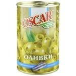 Оливки Oscar фаршированные анчоусами 300мл