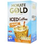 Напиток кофейный Mokate Iced со вкусом карамели растворимый 8шт 15г