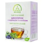 Чай трав'яний Бескид Школярик з чорницею та мелісою 100г