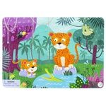 DoDo Leopards Puzzle with Frame 21elements