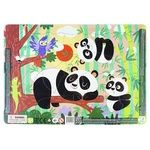 DoDo Pandas Puzzle with Frame 21elements