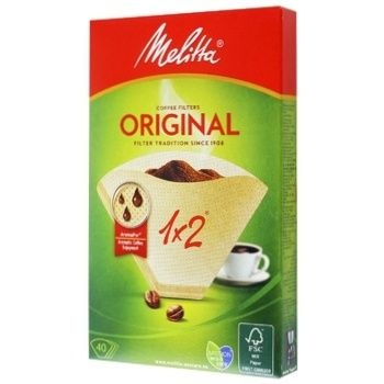 Melitta Paper Filter For Coffee 1x2cm 40pc