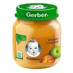 Gerber for babies apple and peach fruit puree 130g