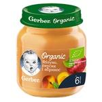 Пюре Gerber Organic Яблоко персик и абрикос 125г