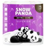 Папір туалетний Snow Panda superior чотирьохшарова 8шт