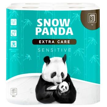Туалетная бумага Snow Panda sensitive трехслойная 8шт