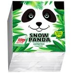 Салфетки Snow Panda однослойные 24см*100шт