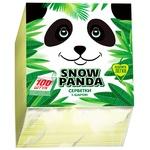 Серветки Сніжна панда 1шар жовті 24х24см 100шт/уп