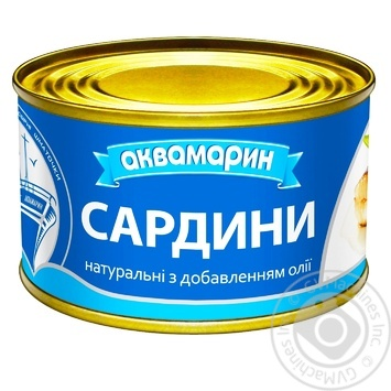 Сардины Аквамарин с добавлением масла 230г - купить, цены на Novus - фото 4
