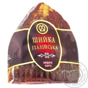 Шийка ХМК Iталiйська iз свинини сирокопчена вищий сорт - купити, ціни на Метро - фото 1