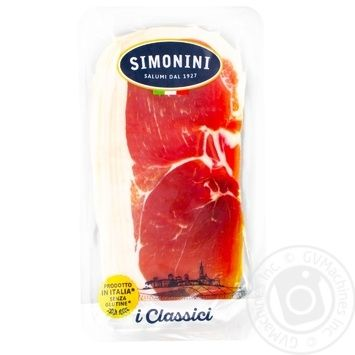 Прошутто Крудо Simonini сыровяленное нарезанное 80г - купить, цены на Метро - фото 1