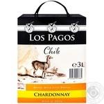 Вино Los Pagos Chile Шардоне белое сухое 3л - купить, цены на Метро - фото 1