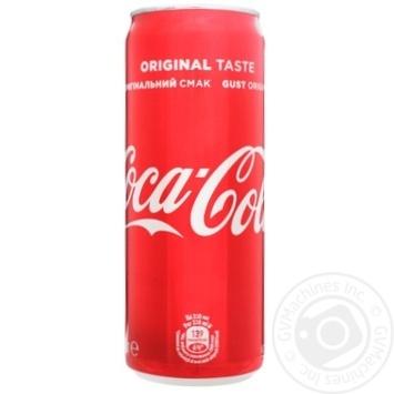 Напиток Coca-Cola сильногазированный ж/б 0,33л - купить, цены на Novus - фото 3