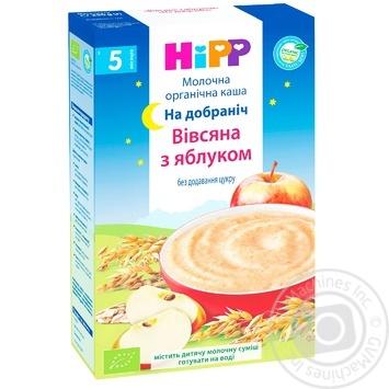 Каша молочная Hipp Organic Спокойной ночи овсяная с яблоком для детей с 5 месяцев 250г - купить, цены на Восторг - фото 2