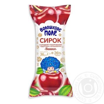 Сырок Волошкове поле Вишня в шоколадной глазури 26% 36г - купить, цены на Таврия В - фото 1