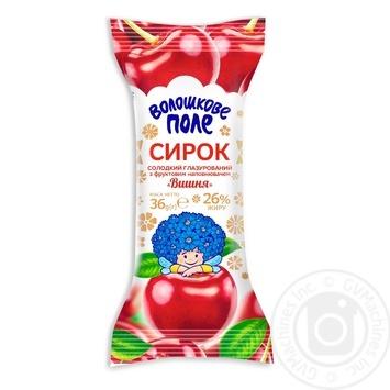 Сырок Волошкове поле Вишня в шоколадной глазури 26% 36г - купить, цены на Фуршет - фото 1