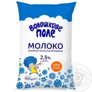 Молоко Волошкове Поле пастеризоване 2.5% 900г - купити, ціни на Фуршет - фото 1