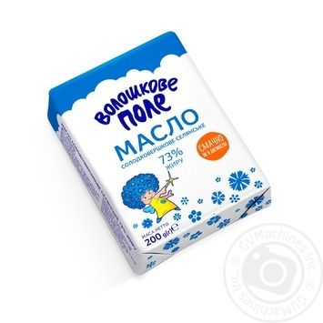 Масло Волошкове Поле Селянське солодковершкове 73% 200г Україна - купити, ціни на Novus - фото 1