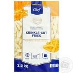 Metro Chef crinkle-cut frozen fries potatoes 2.5kg