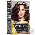 Краска для волос L'Oreal Recital Preference 4.15 Каракас Темный каштан