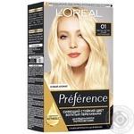 Краска для волос L'Oreal Paris Recital Preference №01 Светло-светло-русый натуральный