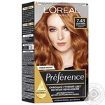 Краска д/вол L'oreal RECITAL Preference7.43Шангрил шт