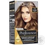 Фарба для волосся L'Oreal Recital Preference 7.1 Ісландія попелястий русявий