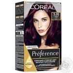 Краска для волос L'Oreal Recital Preference 5.26 Изысканный бордо Холодный фиолетовый каштан