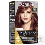 L'oreal Recital Preference 5.23 Hair dye Dark rose gold
