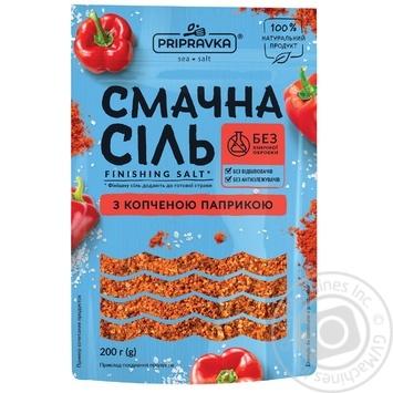 Вкусная соль Приправка морская с копченой паприкой 200г - купить, цены на Novus - фото 1