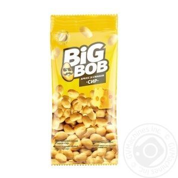 Big Bob Roasted salted peanuts with cheese flavor 70g - buy, prices for CityMarket - photo 1