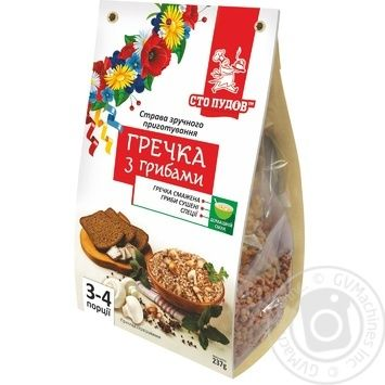 Sto pudov with mushrooms buckwheat 237g - buy, prices for MegaMarket - image 1