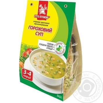 Sto Pudov Peas Soup 241g - buy, prices for MegaMarket - image 1
