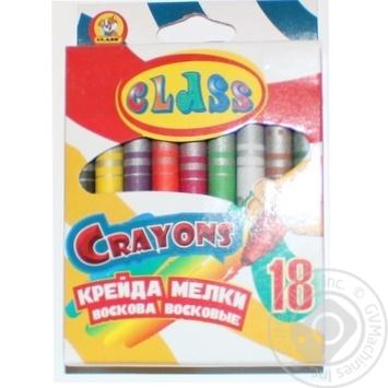 КРЕЙДА ВОСКОВА 18 КОЛЬОРІВ CLASS